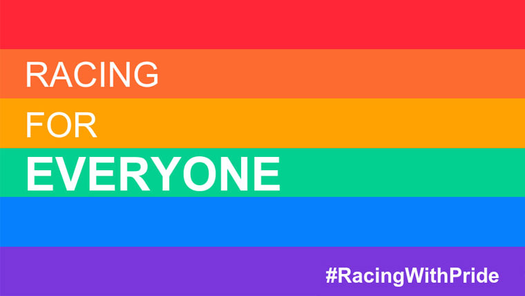 #RacingWithPride